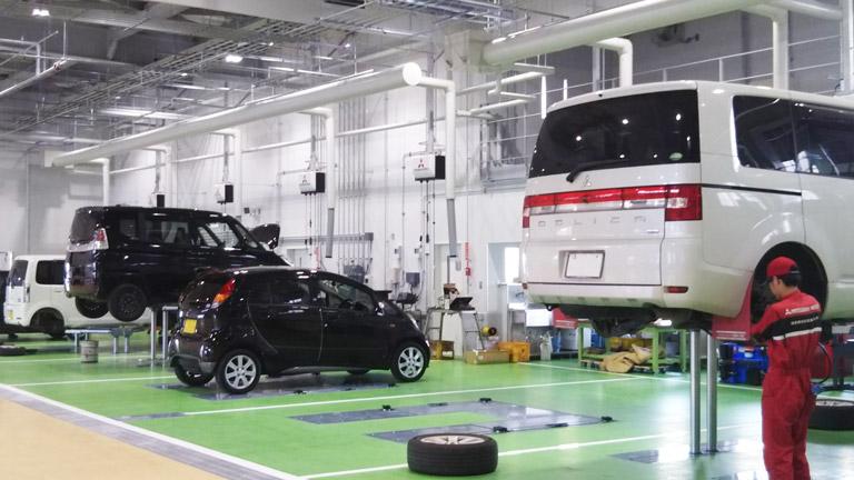 三菱_熊本三菱自動車販売株式会社_八代店_自動車整備工場